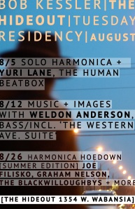 hideout residency poster